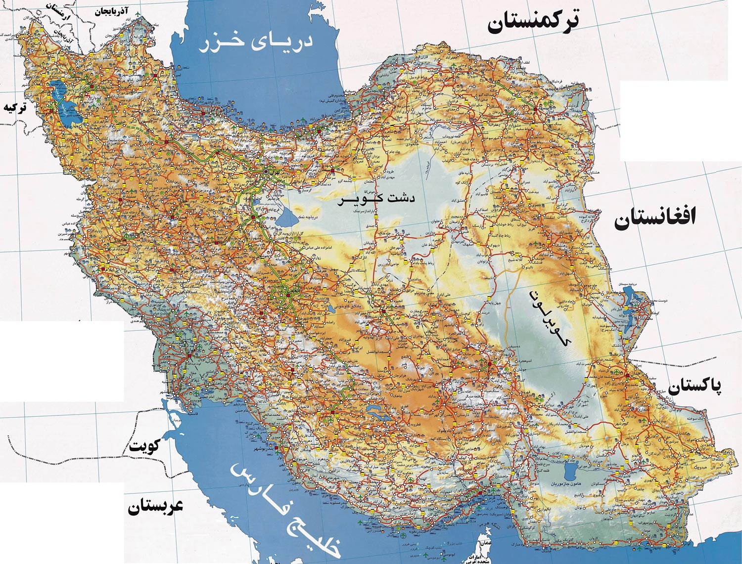 map iran trip roads
