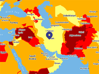 Iran travel risk security
